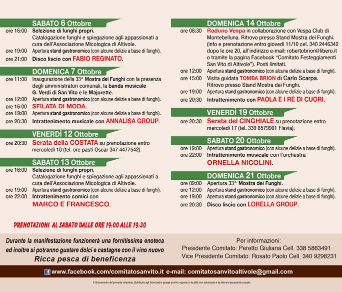 Calendario Funghi.Altivole San Vito 33ª Mostra Dei Funghi Dal 6 Ottobre Al 21