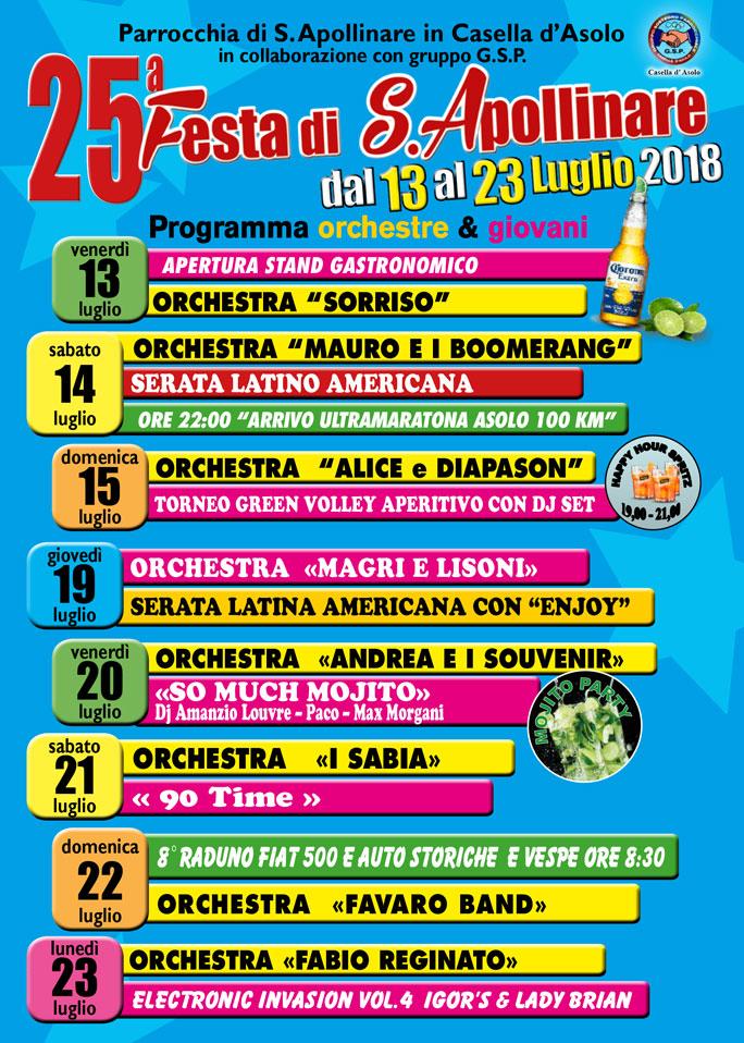 Calendario Orchestre Liscio.Asolo Casella Festa Di Sant Apollinare Musica Live Orchestre
