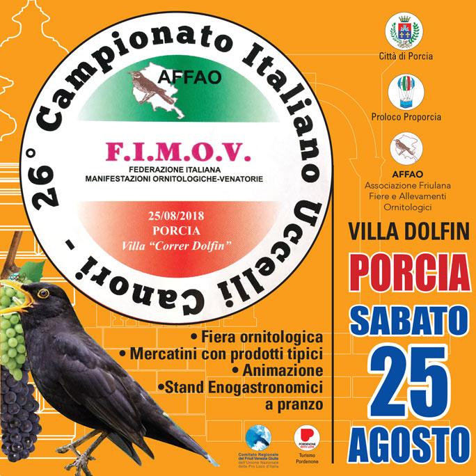Calendario Fiere Ornitologiche.Pordenone Porcia Il Canto Degli Uccelli 26 Campionato