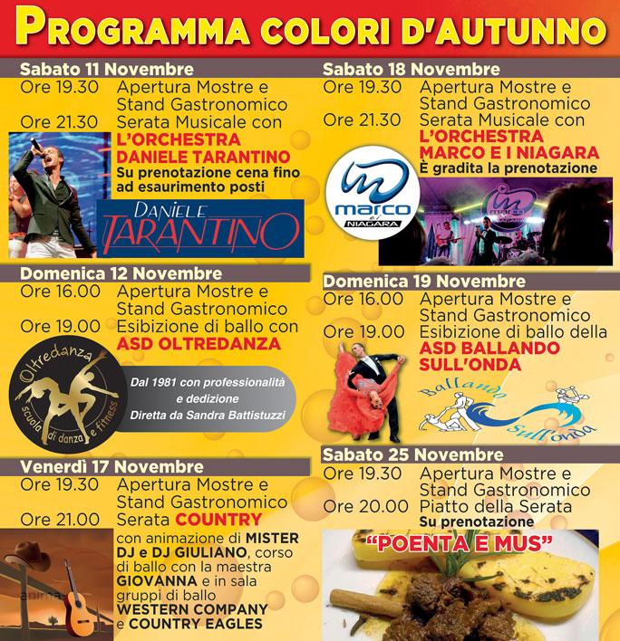 Daniele Tarantino Calendario Serate.Vazzola Visna Festa Colori D Autunno Degustazioni Mostra