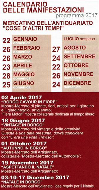 Treviso mercatino dell 39 antiquariato cose d 39 altri tempi for Calendario mercatini antiquariato
