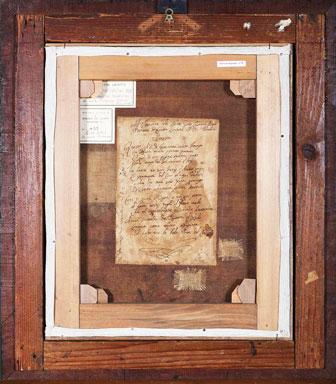 Francesco Trivellini: La beata Giovanna Maria Bonomo, sec. XVIII, retro