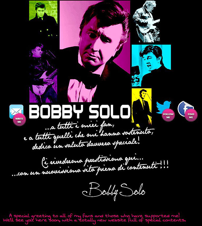 bobby solo official site