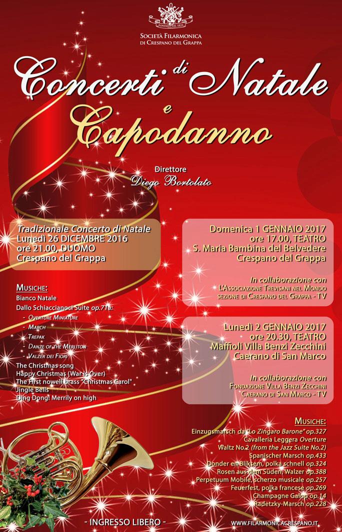 Concerto Di Natale.Societa Filarmonica Di Crespano Del Grappa Concerto Di