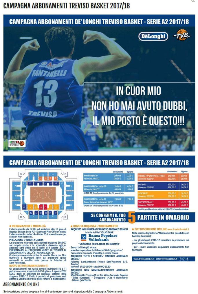 Treviso Basket Calendario.Sport Basket Treviso De Longhi Campionato Italiano