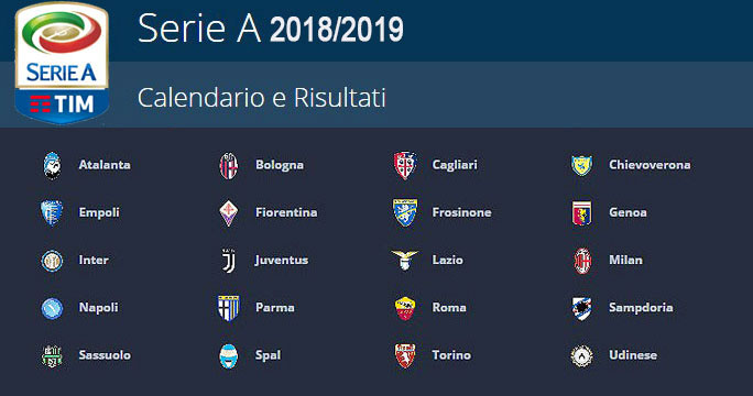 Calcio Italia Campionato Serie A E Campionato Serie B