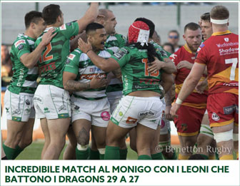 rugby pro 14 TREVISO - DRAGONS