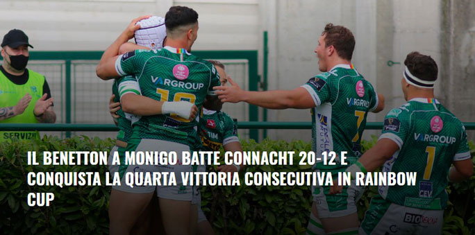 2021 RUGBY TREVISO BENETTON CHAMPIONSHIP GUINNESS PRO 14