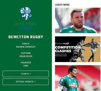 2020 Rugby Guinness Pro 14 Benetton Treviso